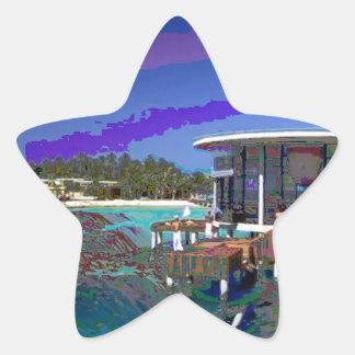 Maldive Islands Sea Views Landmark Photography Star Sticker