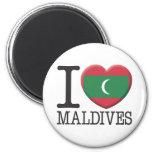 Maldives 2 Inch Round Magnet