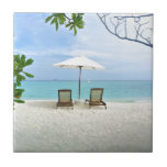 """Maldives Beach Ceramic Tile<br><div class=""""desc"""">Oh to be on a tropical island right this minute... </div>"""