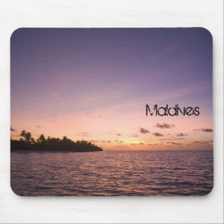Maldives beach Mousepad
