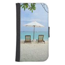 Maldives Beach Wallet Phone Case For Samsung Galaxy S4