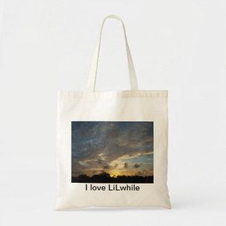 Maldives beautiful sunset 001 budget tote bag