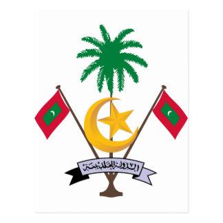 Maldives Coat of Arms Postcards