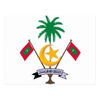Maldives Coat of Arms Postcard