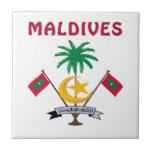 MALDIVES Coat Of Arms Tiles