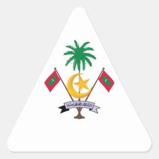 Maldives Coat of Arms Triangle Sticker