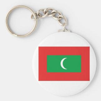 Maldives Flag Basic Round Button Keychain