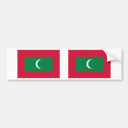 Maldives flag bumper sticker