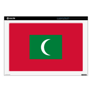 """Maldives Flag Decal For 17"""" Laptop"""