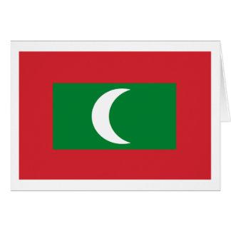 Maldives Flag Greeting Card