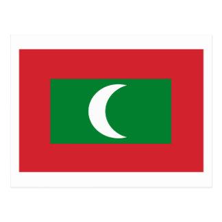 Maldives Flag Postcard