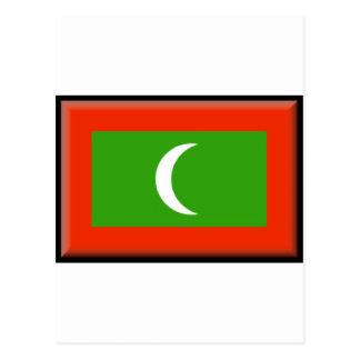 Maldives Flag Post Card