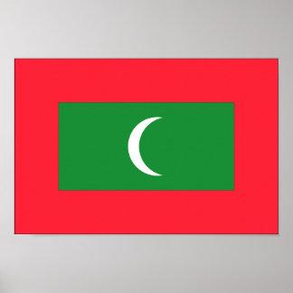 Maldives Flag Poster