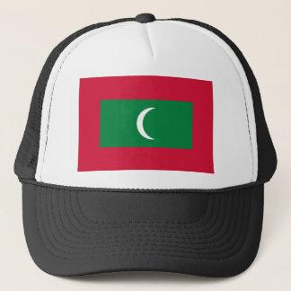 Maldives flag trucker hat