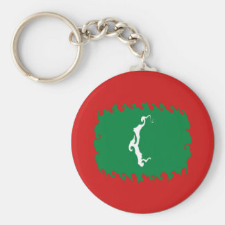 Maldives Gnarly Flag Keychain