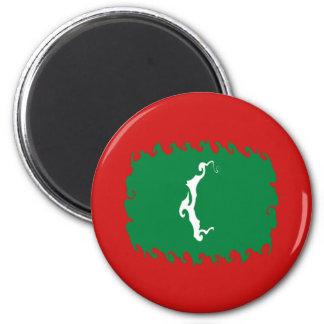 Maldives Gnarly Flag Fridge Magnets