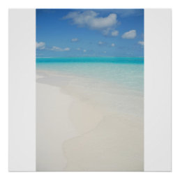 Maldives honeymoon beach island scene poster