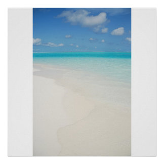 Maldives honeymoon beach island scene poster