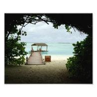 Maldives Island Boat Art Photo