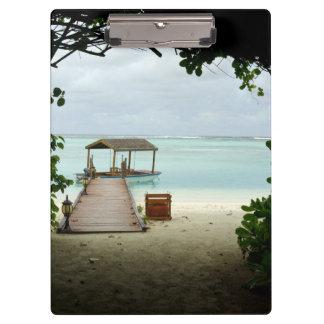 Maldives Island Boat Clipboard