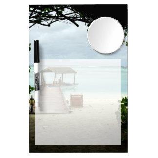 Maldives Island Boat Dry Erase Board With Mirror