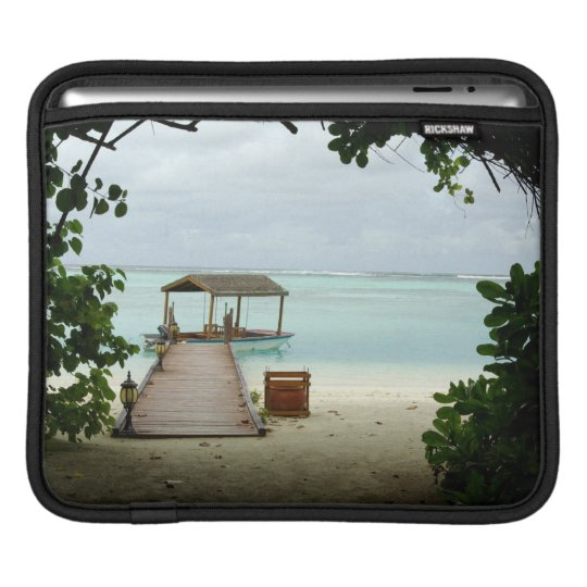 Maldives Island Boat iPad Sleeve
