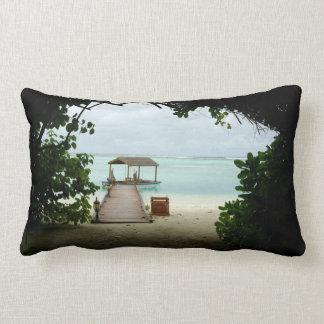 Maldives Island Boat Lumbar Pillow