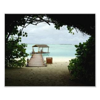Maldives Island Boat Photo Print