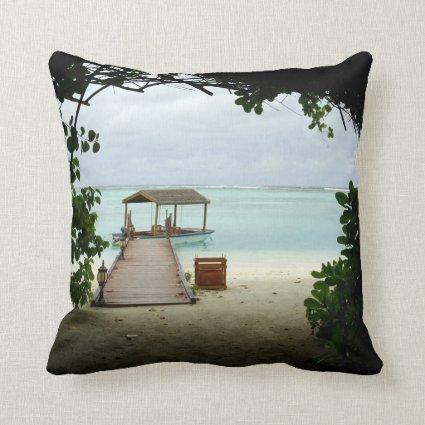 Maldives Island Boat Pillow