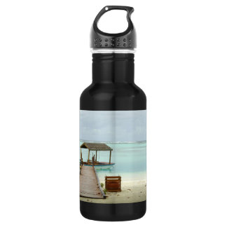 Maldives Island Boat Stainless Steel Water Bottle
