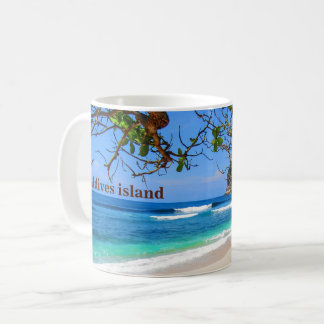 Maldives island by storeman coffee mug