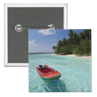 Maldives, Male Atoll, Kuda Bandos Island Pinback Button