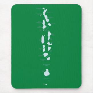 Maldives Map Mousepad