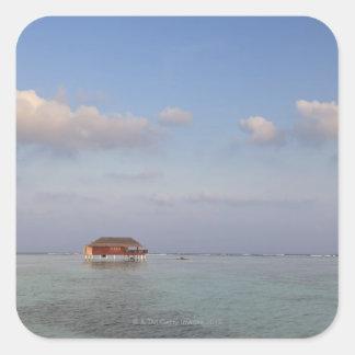 Maldives, Meemu Atoll, Medhufushi Island, luxury Square Sticker