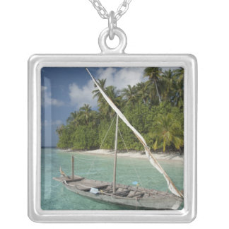 Maldives, North Male Atoll, Island of Kuda Silver Plated Necklace