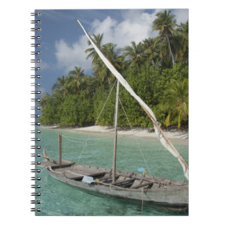 Maldives, North Male Atoll, Island of Kuda Spiral Notebook