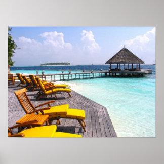 Maldives pier poster