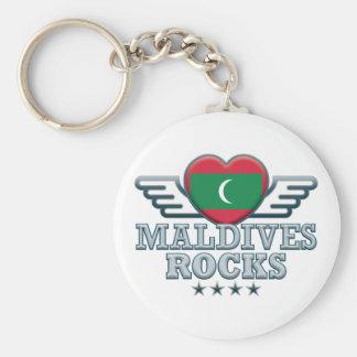 Maldives Rocks v2 Keychain