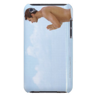 Maldives, Smart young guy practicing yoga at iPod Touch Cover