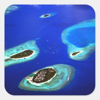 Maldives Square Sticker