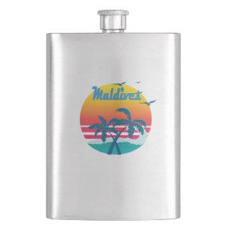 Maldives, summer retro vintage flask