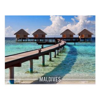 Maldives Water Bungalows Postcard
