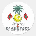 Maldivian Emblem Sticker