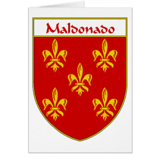 Maldonado Coat of Arms/Family Crest Card