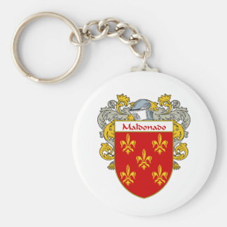 Maldonado Coat of Arms/Family Crest  (Mantled) Basic Round Button Keychain