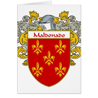 Maldonado Coat of Arms/Family Crest (Mantled) Card
