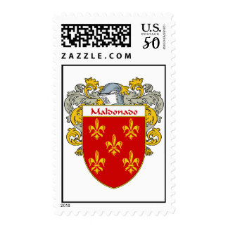 Maldonado Coat of Arms/Family Crest  (Mantled) Postage
