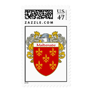 Maldonado Coat of Arms/Family Crest  (Mantled) Stamp