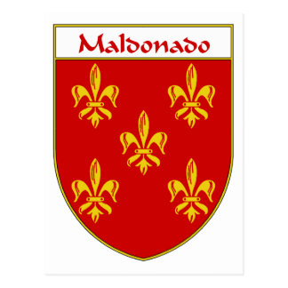 Maldonado Coat of Arms/Family Crest Postcard