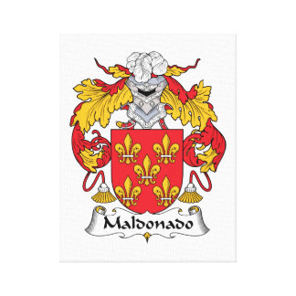 Maldonado Family Crest Canvas Print
